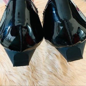 Karen Scott Shoes - Karen Scott | Black Patent Leather Wedge Flats - 8